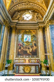 Side chapel in the San Martino ai Monti Church in Rome, Italy. March-25-2018