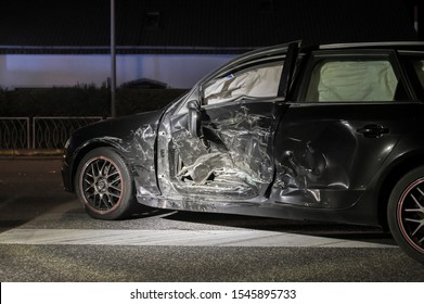 Side collision in an accident, car total loss
