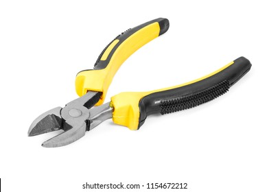 Side cutters isolated on white background with clipping path