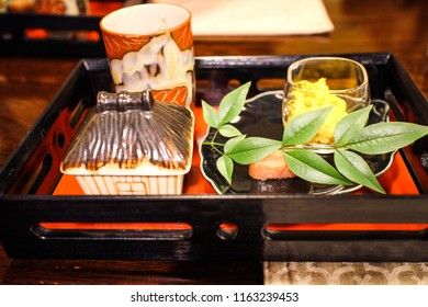 Side dish in Kaiseki Set, Kyushu, Japan