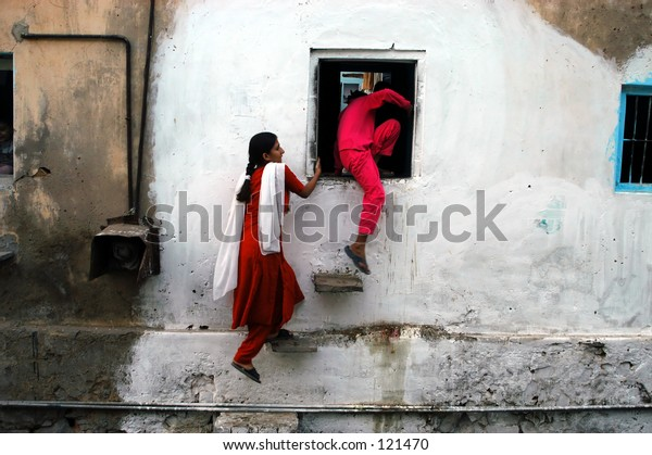 Side entrance to building, Jaipur, India