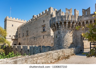 Side entrance from city walls to Grand master palace (Rhodes, Greece)