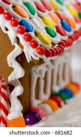 side of gingerbread house