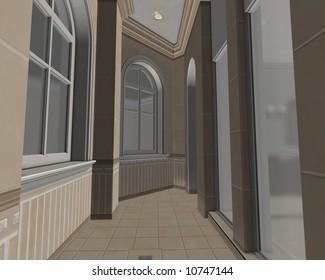 Side hallway