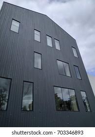 Side of modern building