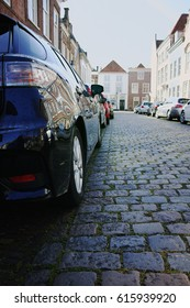 Side parking on the small street in old city