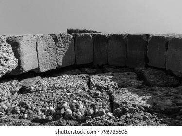 Side peninsula desert ruins. Antalya province