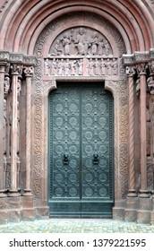Side portal of the Minster in Basel