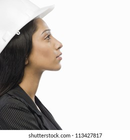 Side profile of a female architect