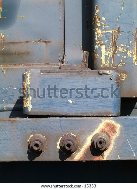 side of a rail road car