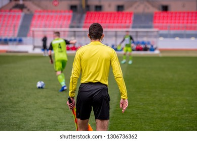 Side referee, soccer or football photo