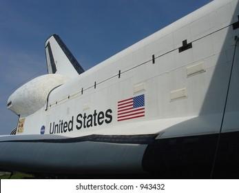 Side of Space Shuttle Model