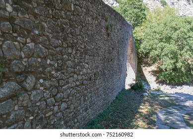 Side of a stone bridge