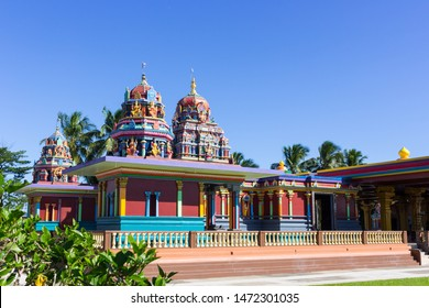 Side View of the Colorful Sri Siva Subramaniya Temple in Nadi