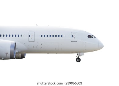 Side view of commercial airplane