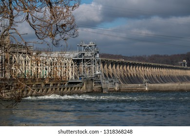 A side view of Conowingo dam, Darlington, MD in a Thanksgiving Day