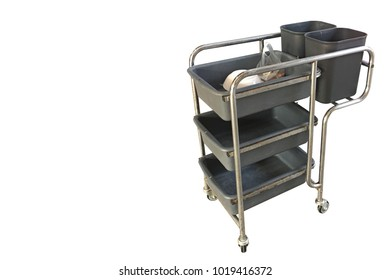 side view di cut Trolley on white background,copy space