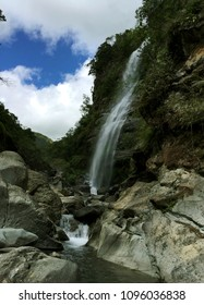 Side view of the famous Bomod-ok Falls of Sagada, Moutnain Province