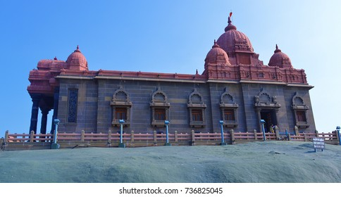 Side view of Kanyakumari temple at Kanyakumari in Tamil Nadu, India