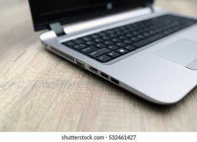 Side view of a laptop