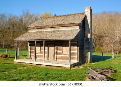 A side view of the original house a homestead in Reynolds County Missouri