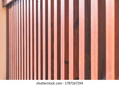 side view of a painted wooden fence