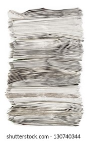 A side view of a pile of paper