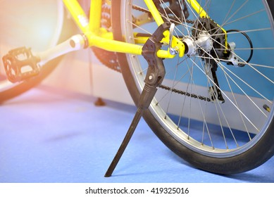 Side view , Rear-wheel of bicycle