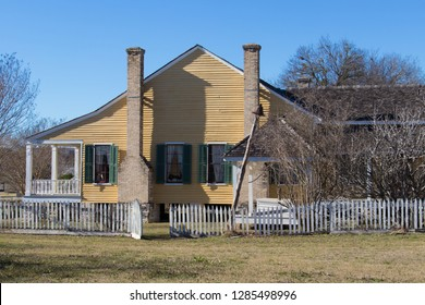 side view of a reconstructed Texas home from the late 1800s