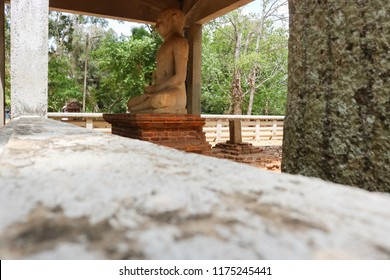 Side View of Samadhi Buddha Statue, Anuradhapura, Sri Lanka