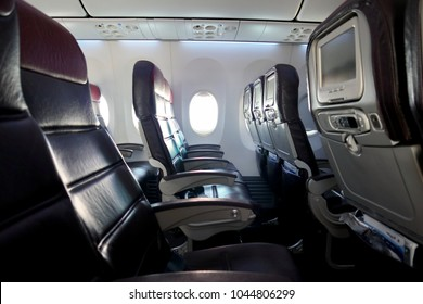 Side view of Seats of Airplane