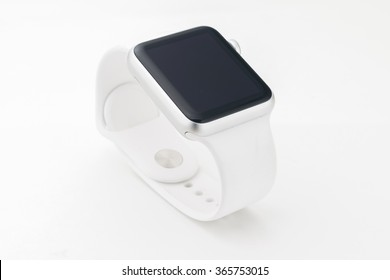 Side view smart watch isolated over with background