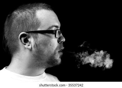 Side view and smoke cloud