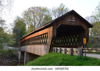 side view of state road covered bridge