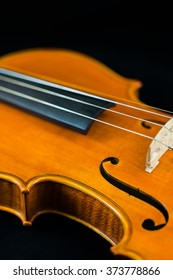 Side view of a violin.