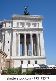 Side view of the Vittorio Emanuele monument in Rome, Italy, August 2013