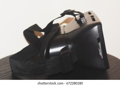 A side view of VR goggles