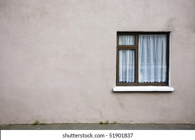Side wall of building with window