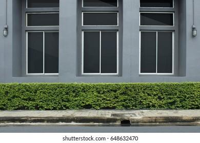 Side Wall of Building with Window, Roadside, Walk way