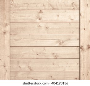 Side of wooden box, light planks or wall