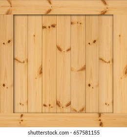 Side of wooden box. Texture of wood box with space. Wood wall or frame plank natural with pattern for design. great for your design and texture background