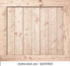 Side Of Wooden Box Wall Or Frame