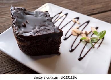 side-angle Brownie cake background