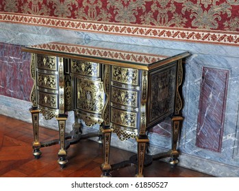 sideboard and marble wainscot, The Palace at Versailles, France