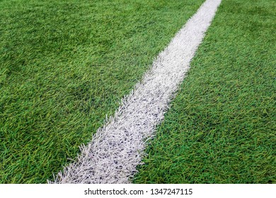 Sideline football field, Sideline chalk mark artificial grass soccer field