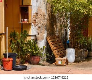 A Sidestreet In Chinatown, In Kuala Terengganu, In Malaysia.