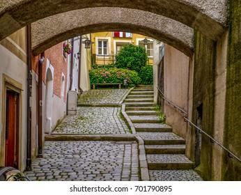 Sidestreet steps in Passau, Germany