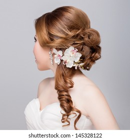 side-view bridal hair style