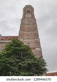 Sideview of the Frauenkirche in Munich