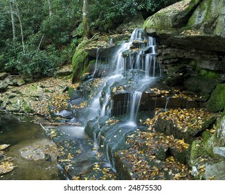 Side-view of a waterfall